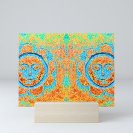 Eternal sunshine (rust / turquoise) Mini Art Print