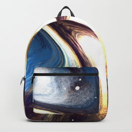 returning to the cosmos | Abstract Painting Backpack