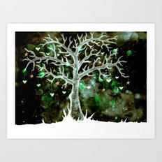 Heart & Star Tree (inversion)  Art Print