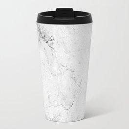 Marble texture Gray Travel Mug