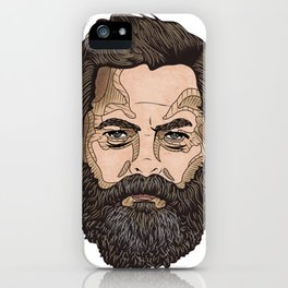 The Face Of Nick Offerman iPhone Case