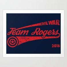 Team Rogers Art Print