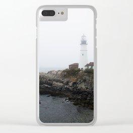Wistful Ocean Day Clear iPhone Case