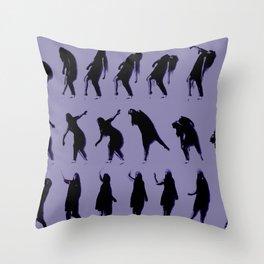 purple dancer Throw Pillow