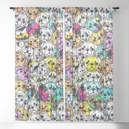 Gemstone Pugs Dogs Sheer Curtain