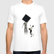 Block SMALL Mens Fitted Tee White