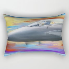 Jetfighter speed Rectangular Pillow