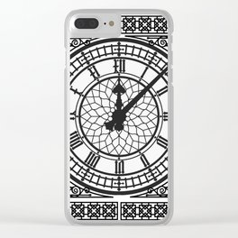 Big Ben, Clock Face, Intricate Vintage Timepiece Watch Clear iPhone Case