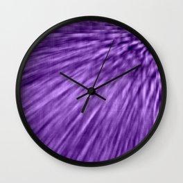Grape Purple Pixel Wind Wall Clock