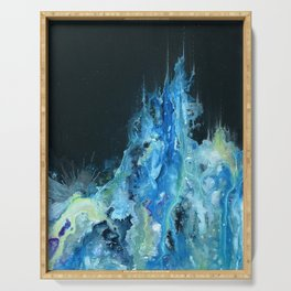 Twin Caverns (Abstract Painting) Serving Tray