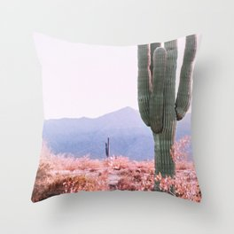 Warm Desert Throw Pillow