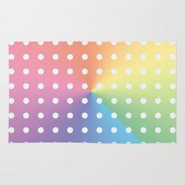 White Polka Dots On Pastel Color Spectrum Rug