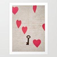 key Art Prints featuring Key by SilverSatellite