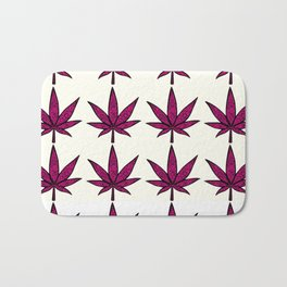Filigree Floral Cannabis Leaf- 4x4 tile Pink Bath Mat