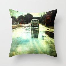 on a Dutch rainy day Throw Pillow