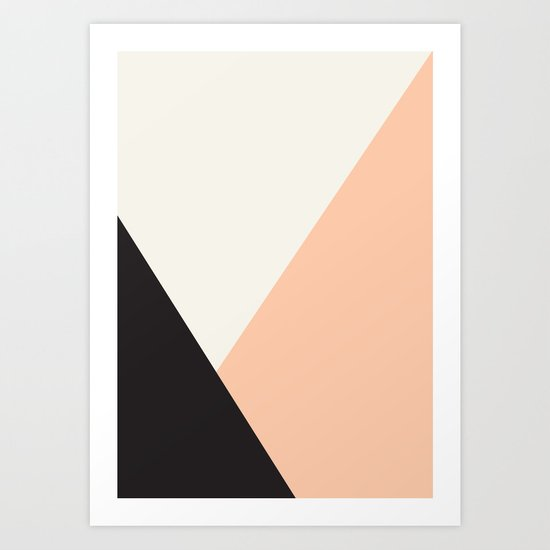 Getting Blocky Dark Art Print
