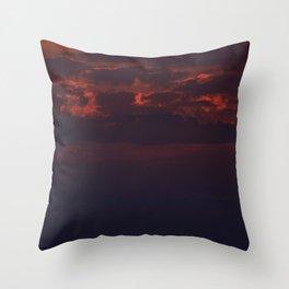 Dusk on the Atlantic Ocean Throw Pillow