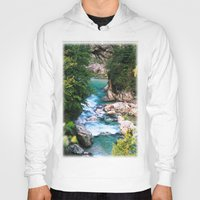 minerals Hoodies featuring The river in the mountains by Carlo Toffolo