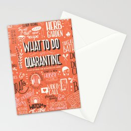 What To Do In Quarantine 01 Stationery Cards