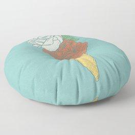 Rose ice cream Floor Pillow
