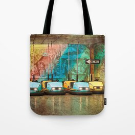 Bumper Cars Tote Bag