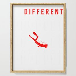 diving be different t-shirt for merry christmas Serving Tray