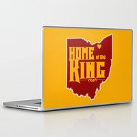lebron Laptop & iPad Skins featuring Home of the King (Yellow) by Denise Zavagno