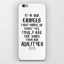 Dumbledore's quote iPhone Skin