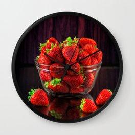 Strawberries Wall Clock
