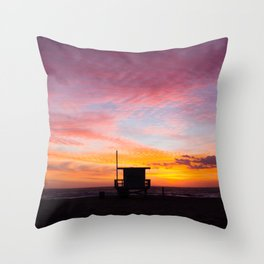 Sherbet Sunets Throw Pillow