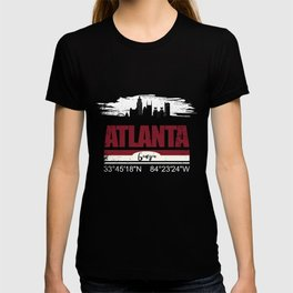 Atlanta GPS Coordinates  Distressed Gifts T-shirt
