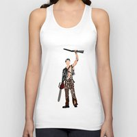 evil dead Tank Tops featuring The Evil Dead - Bruce Campbell by Ayse Deniz