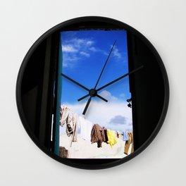 Line Dry Wall Clock