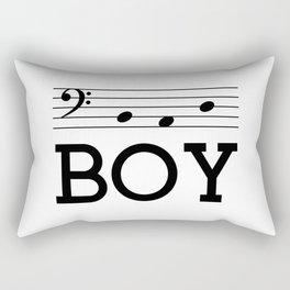 Bad boy (bass clef) Rectangular Pillow