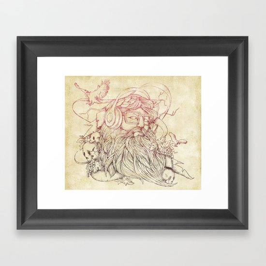 Listen to your soul Framed Art Print