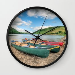 Canoe Break  Wall Clock