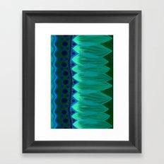 Blue Lotus Petals Framed Art Print