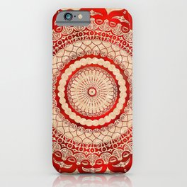 omulyána red gallery mandala iPhone Case