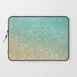 Sparkling Gold Aqua Teal Glitter Glam #1 #shiny #decor #society6 Laptop Sleeve