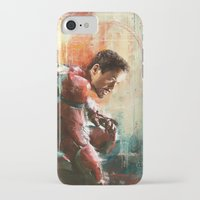 iron man iPhone & iPod Cases featuring The man of Iron by Wisesnail