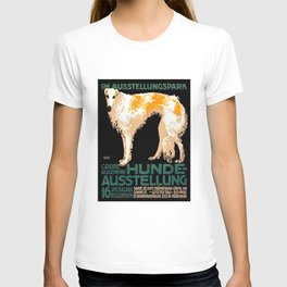 Vintage German Dog Show Advertising Poster T-shirt