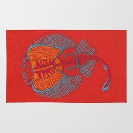 Stitches: Electric ray Rug