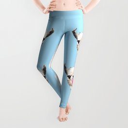 Bubble Gum Sneaky Llama in Blue Leggings