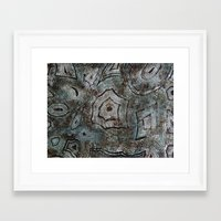 malachite Framed Art Prints featuring Malachite by RubenBer