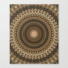 Mandala in beige and warm brown tones Canvas Print