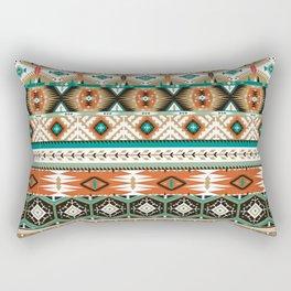 Earthy Aztec Tribal Geometric Rectangular Pillow