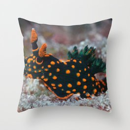 Orange-spotted Nembrotha Monster Nudibranch Throw Pillow