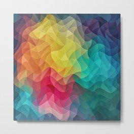 Abstract Color Wave Flash Metal Print