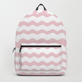 Pink Zig Zag Pattern Backpack