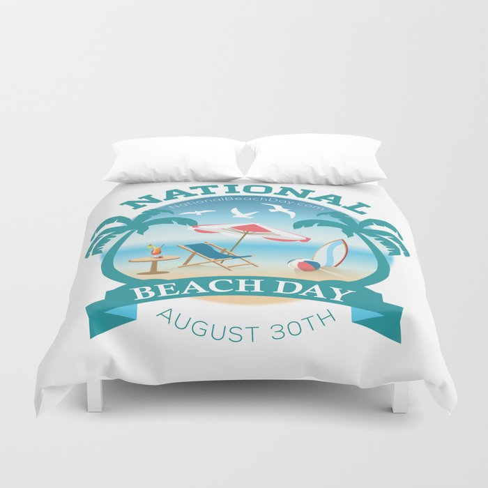National Beach Day Duvet Cover By Theholidayguild Society6